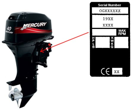 Encontrar el número de serie para Mercury