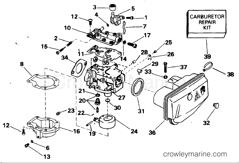 Evinrude Carburetor Diagram - Wiring Diagram Sys
