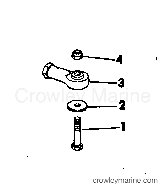 1973 Rigging Parts Accessories - Steering STEERING CONNECTOR KITS 65 HP SHORT SHAFT section