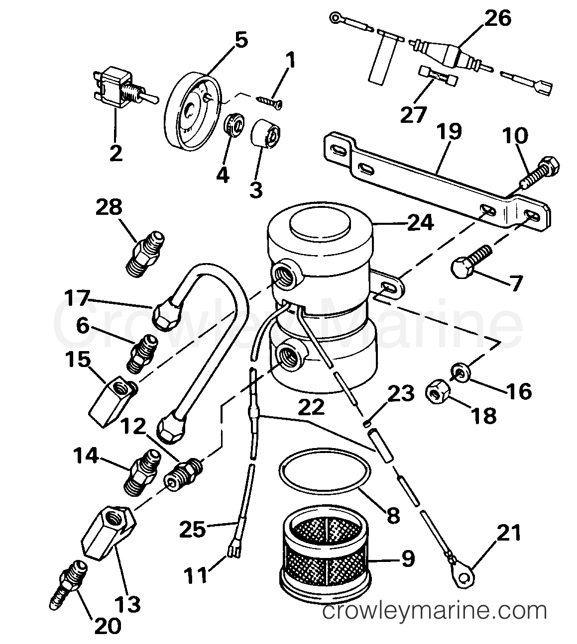1985 Rigging Parts Accessories - Fuel System - ELECTRIC PRIMER PUMP ASSY. V-4, V-6, V-8 & SEA DRIVE