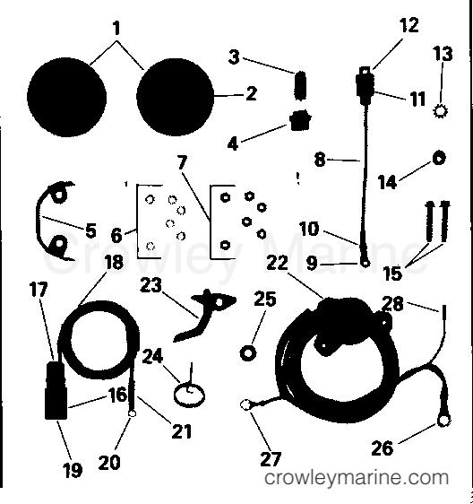 1991 Rigging Parts Accessories - Power Trim & Tilt - TRIM GAUGE & SENDER KIT - 40, 48 & 50 MODELS
