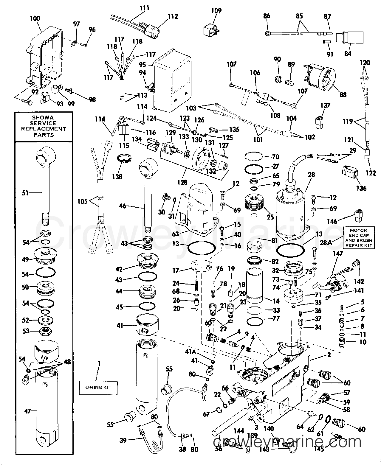 1984 Rigging Parts Accessories - Power Trim & Tilt - POWER TRIM/TILT 65 THRU V-6