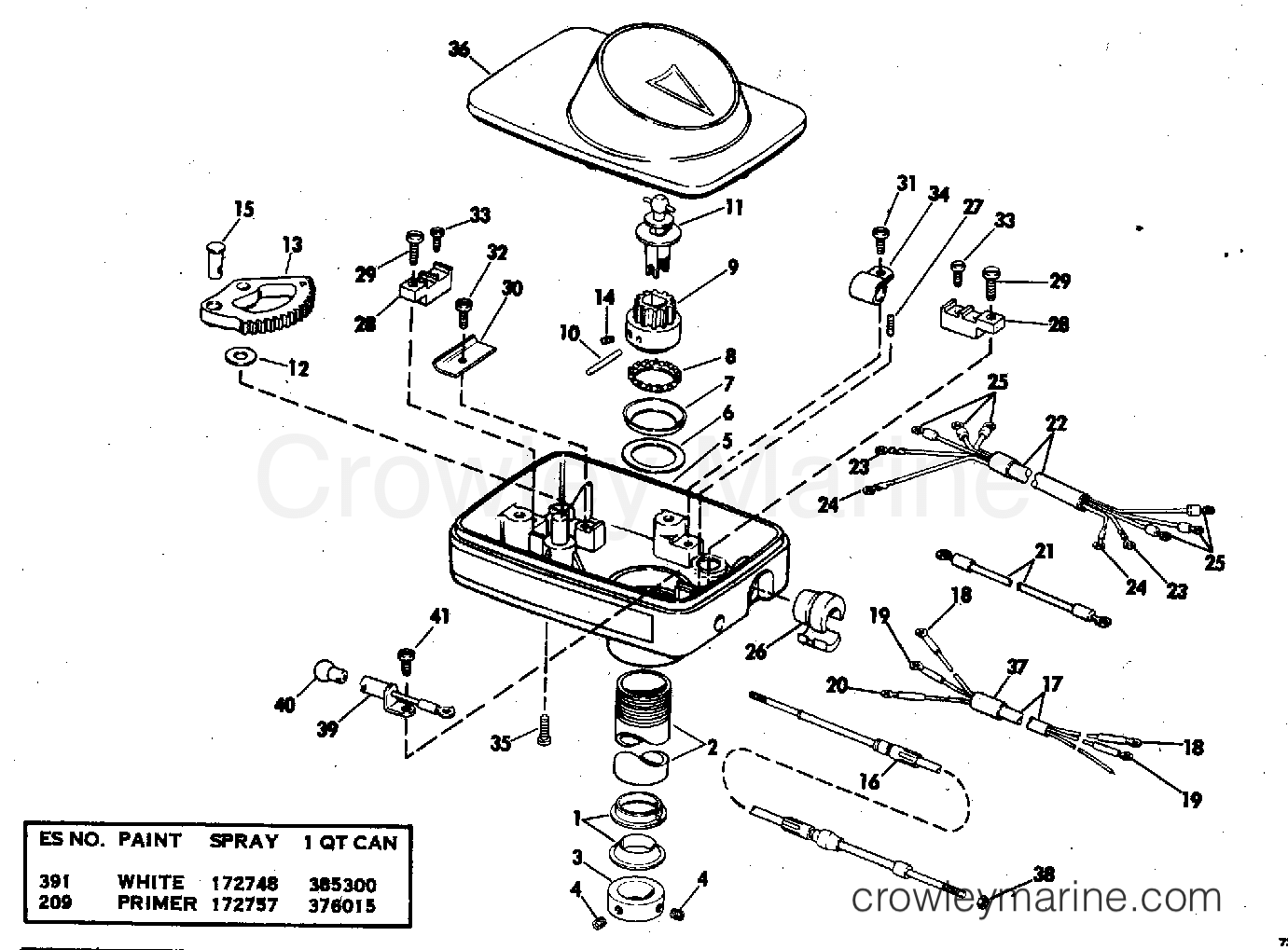 1978 Electric Motors 24 Volt - E48-C - STEERING HOUSING GROUP