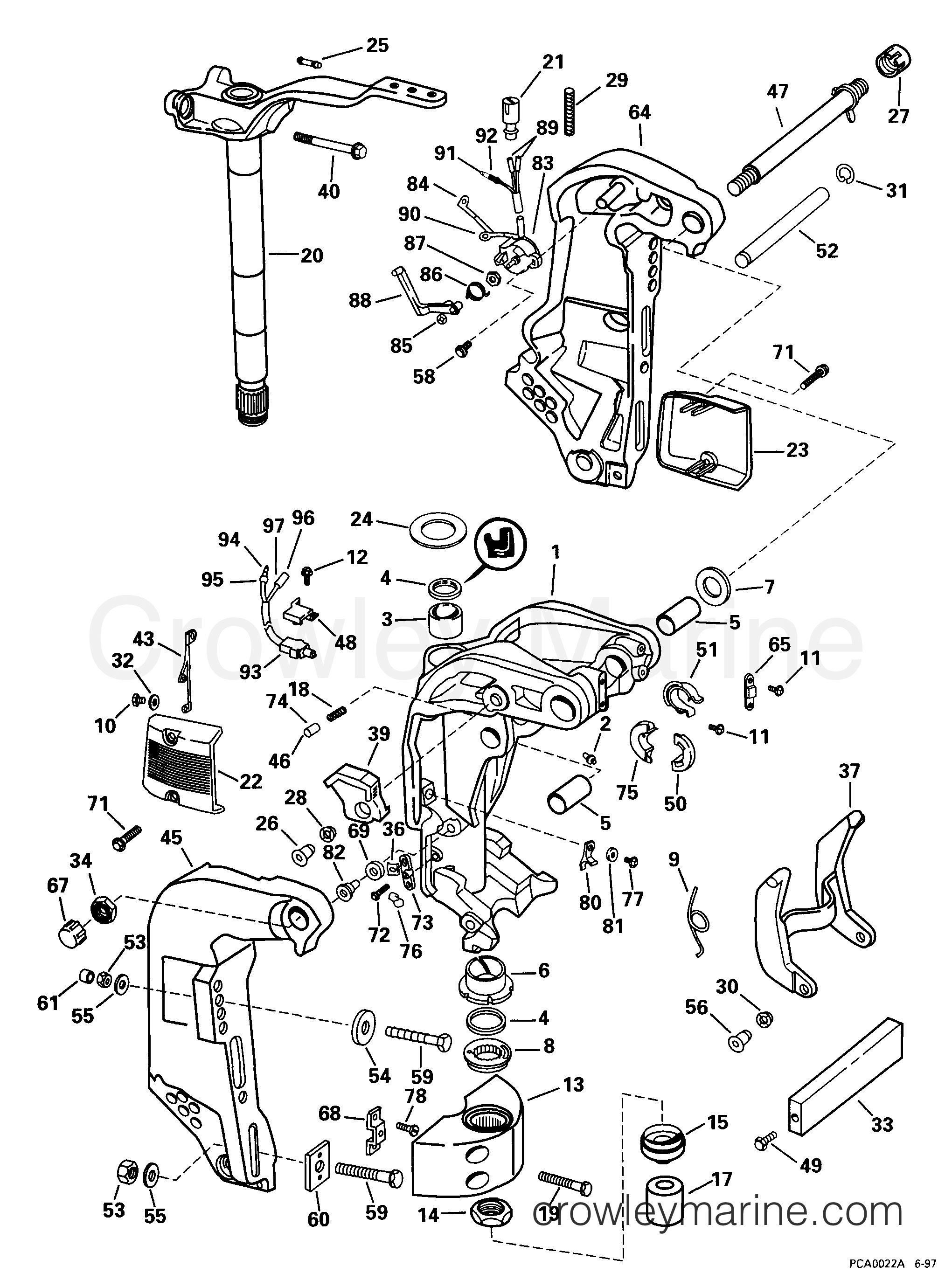 diagram 1999 mercury 150 outboard