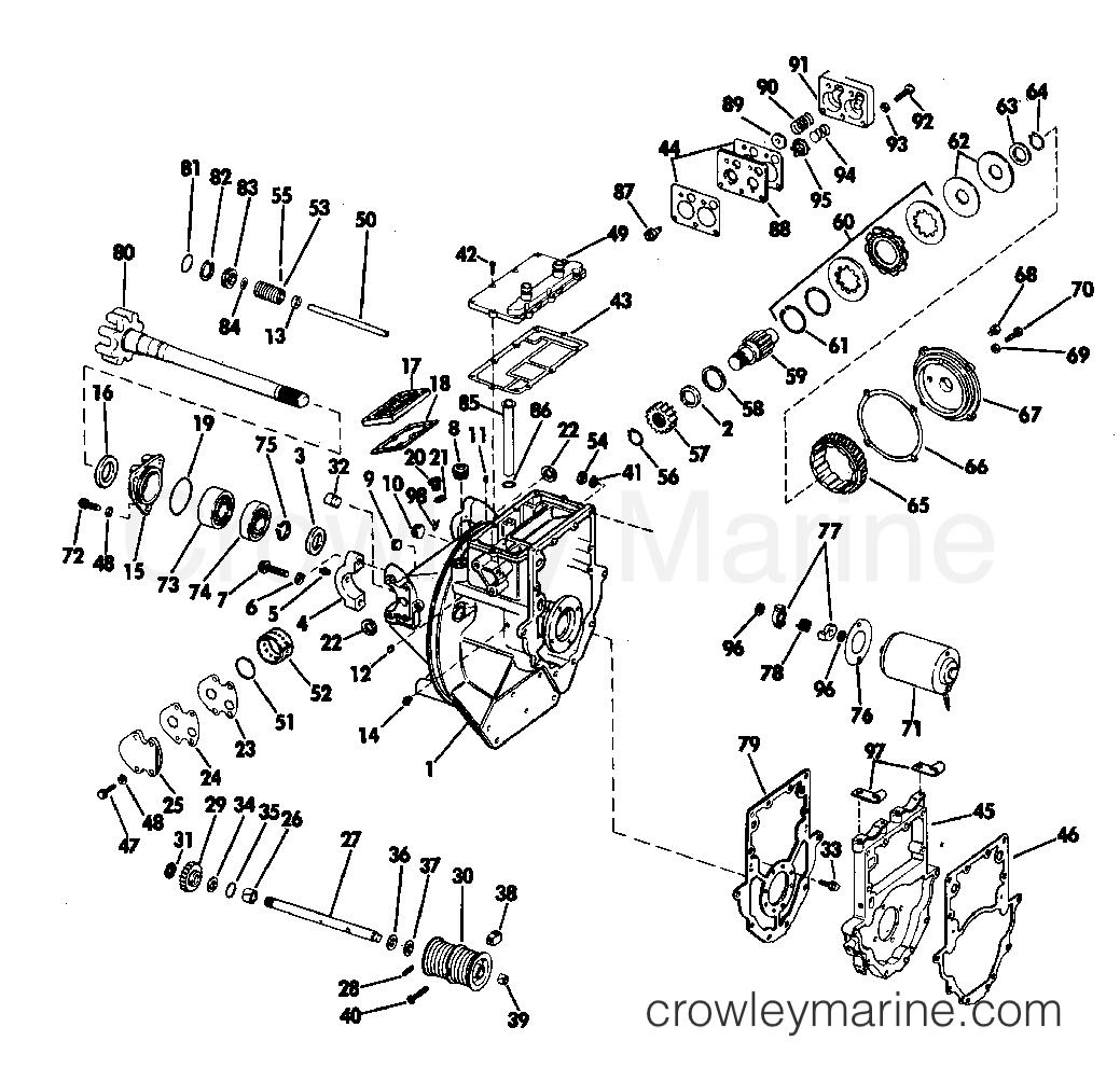 1968 OMC Stern Drive 90 - DU-15S INTERMEDIATE HOUSING GROUP section