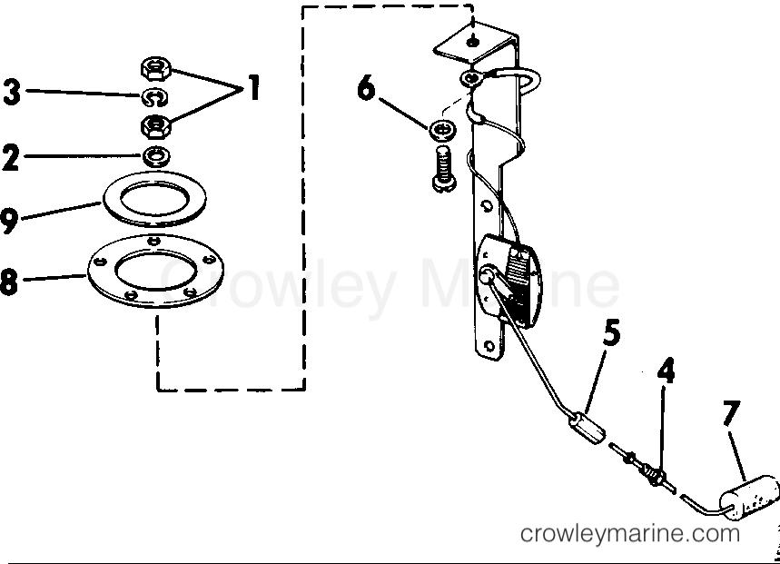 1985 Rigging Parts Accessories - Fuel System - FUEL LEVEL SENDING UNIT KIT