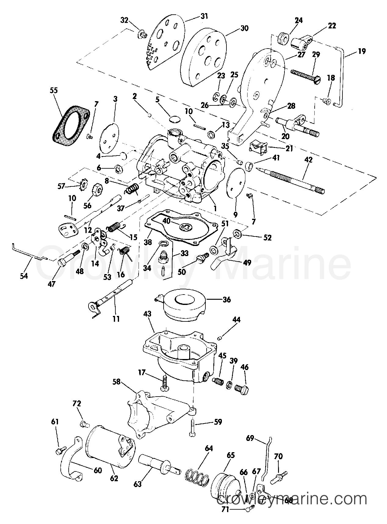 1974 Evinrude Outboards 25 - 25403M - CARBURETOR