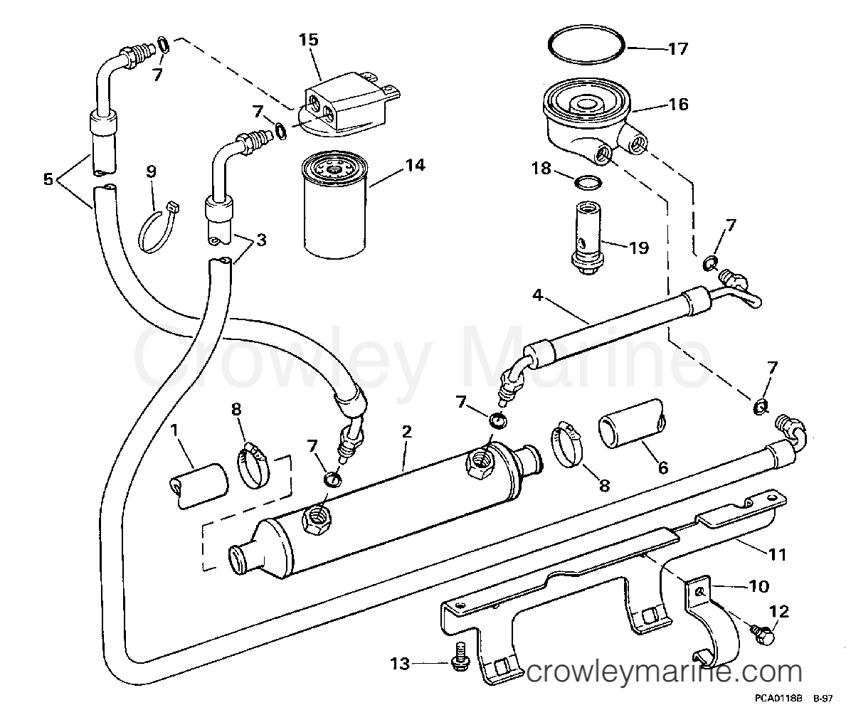 1998 OMC Stern Drive 7.4 - 74FHPBYC - OIL SYSTEM section