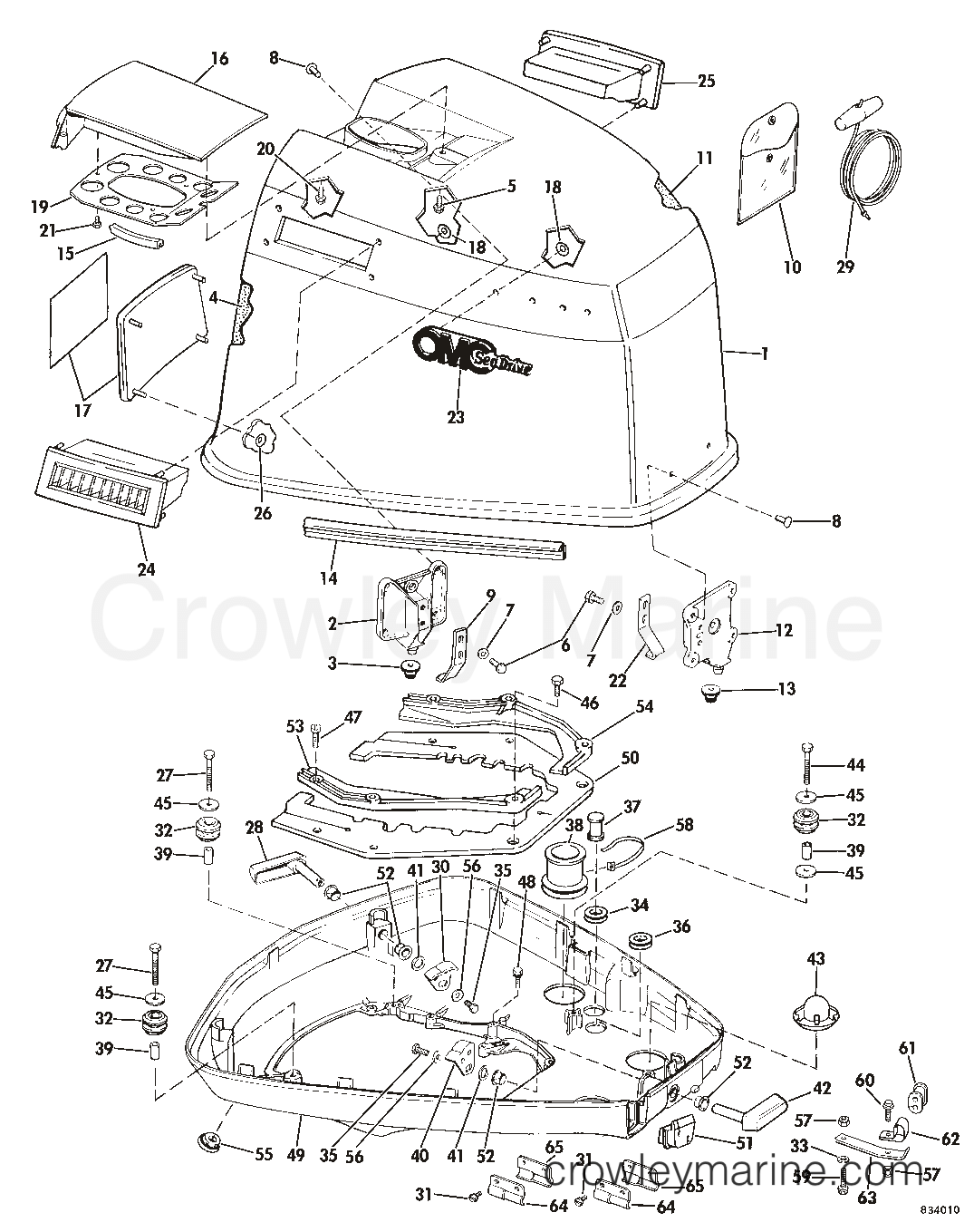 Sea Drive Omc V4 Engine Diagram Electrical Wiring Cover 1983 1 6l 2balctr Crowley Marine Cat