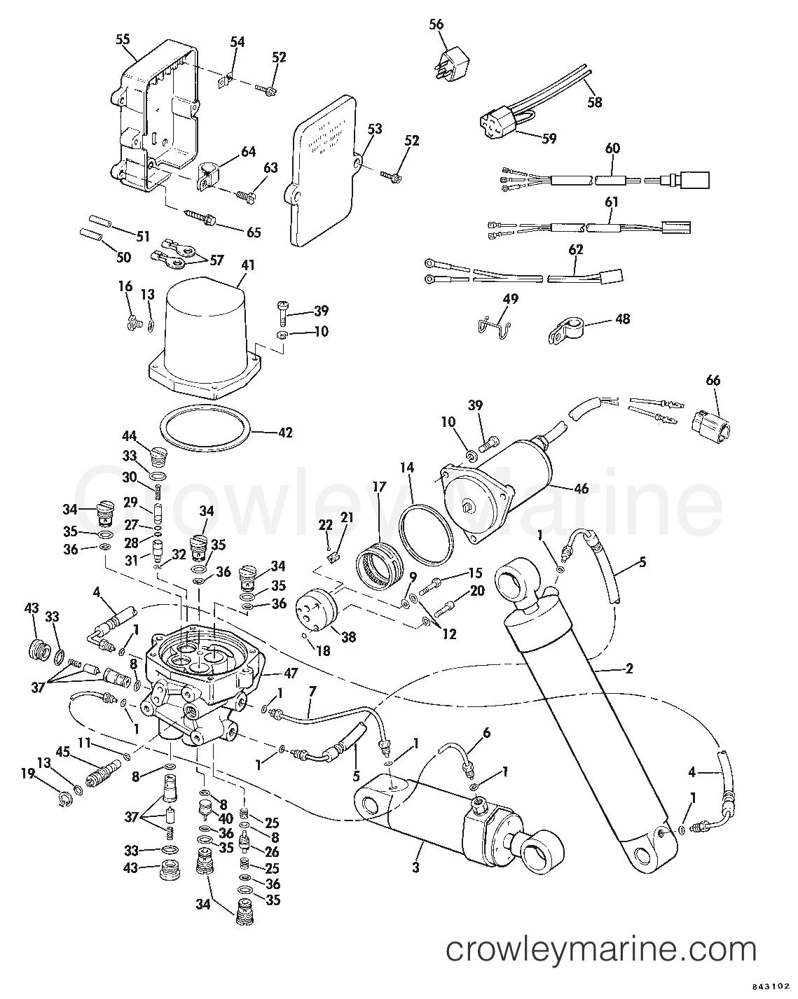selectrim tilt 1985 omc sea drive 2 6l hydraulic xl 1aalcom rh crowleymarine com
