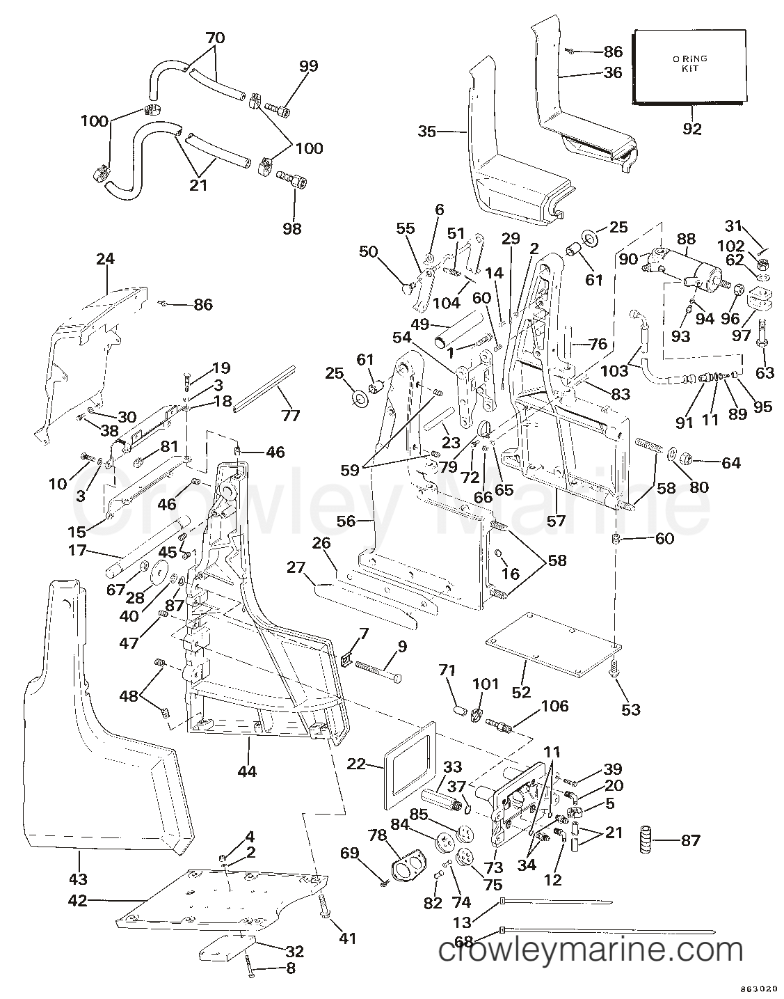 Omc Sea Drive Wiring Diagram Trusted Diagrams Transom Bracket Assembly Hydraulic Steering 1986 Boat Schematics