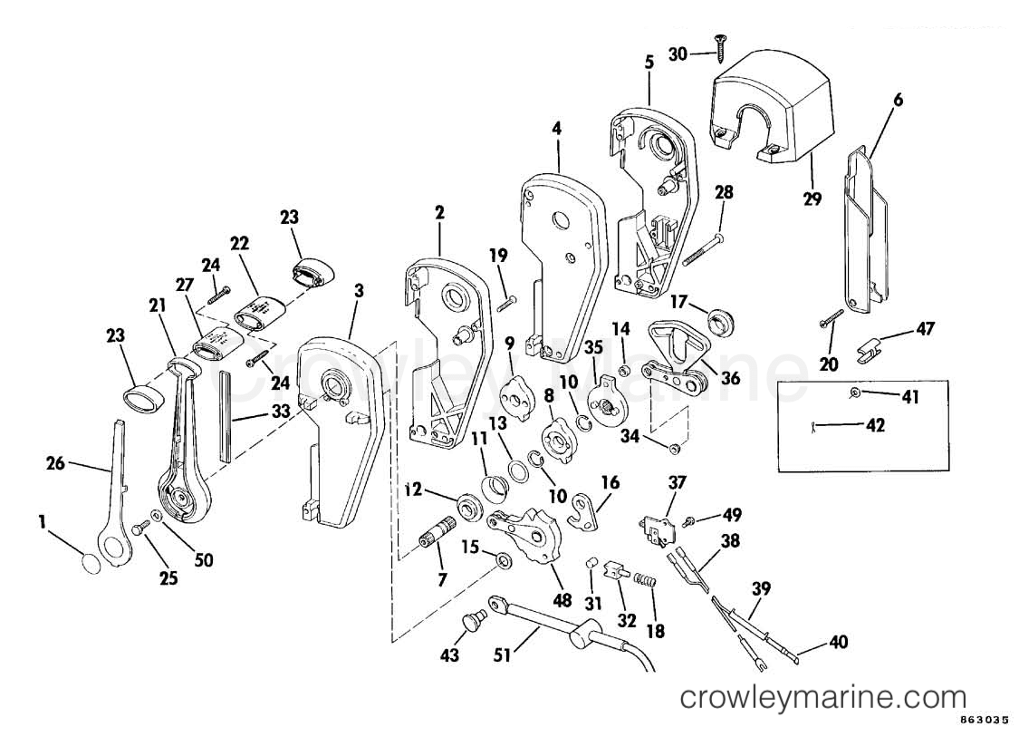 Sea Drive Omc V4 Engine Diagram Electrical Wiring Remote Control Assembly Binnacle Mount Dual Lever Steering
