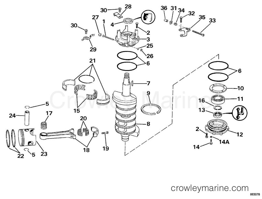 crankshaft piston 1990 omc sea drive 2 0l hydraulic 20ahrdgh rh crowleymarine com