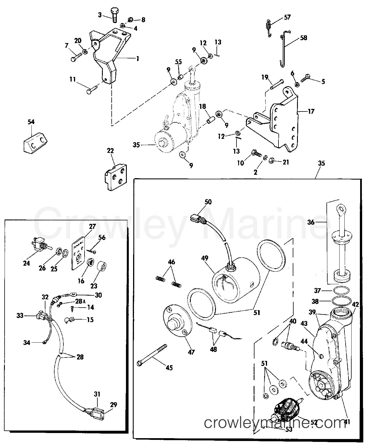 1984 Rigging Parts Accessories - Power Trim & Tilt - POWER TILT KIT 25, 30 & 35 ELECTRIC