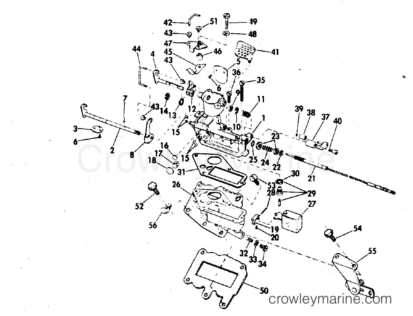 carburetor 1972 evinrude outboards 9 5 9222m crowley marine