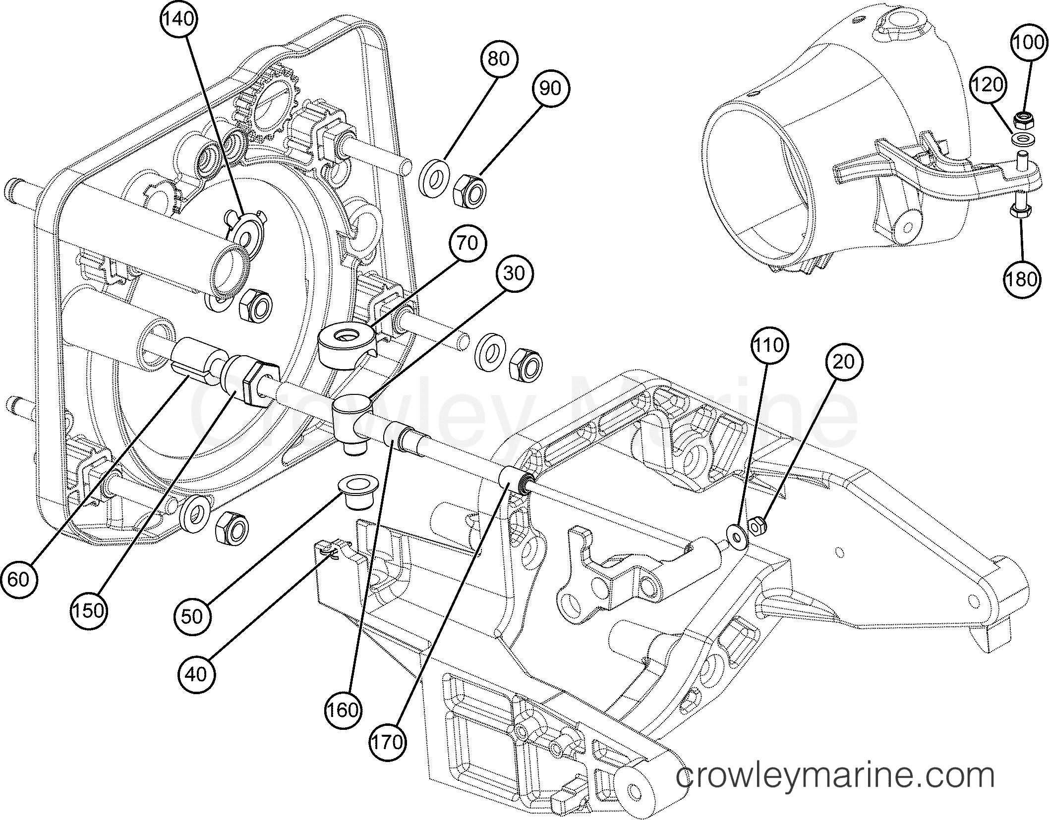 Reverse Cable And Hardware Af Rotax Powertrains 150 440023afa Engine Diagram Section