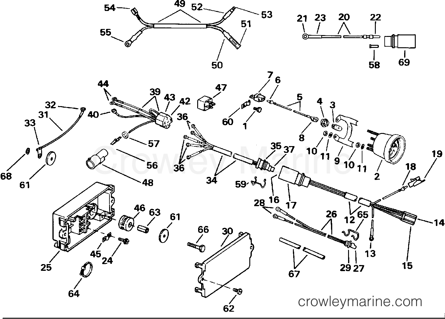 Power Trim Tilt Electrical 1991 Evinrude Outboards 120 Ve120tleie Mercruiser Engine Wiring Diagram Section