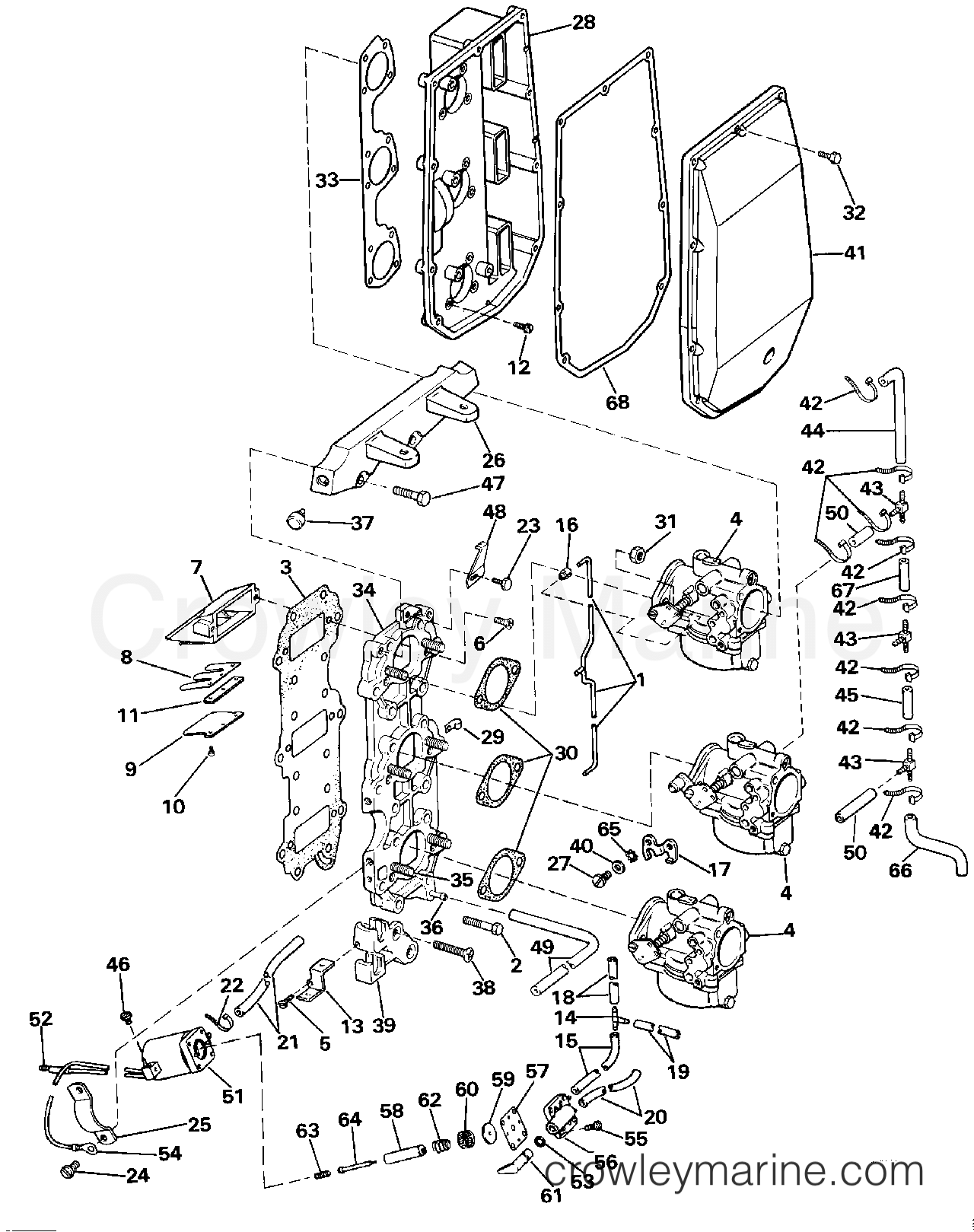 intake manifold 1986 evinrude outboards 70 e70elcdc With diagram of 1986 e70elcdc evinrude intake manifold diagram and parts
