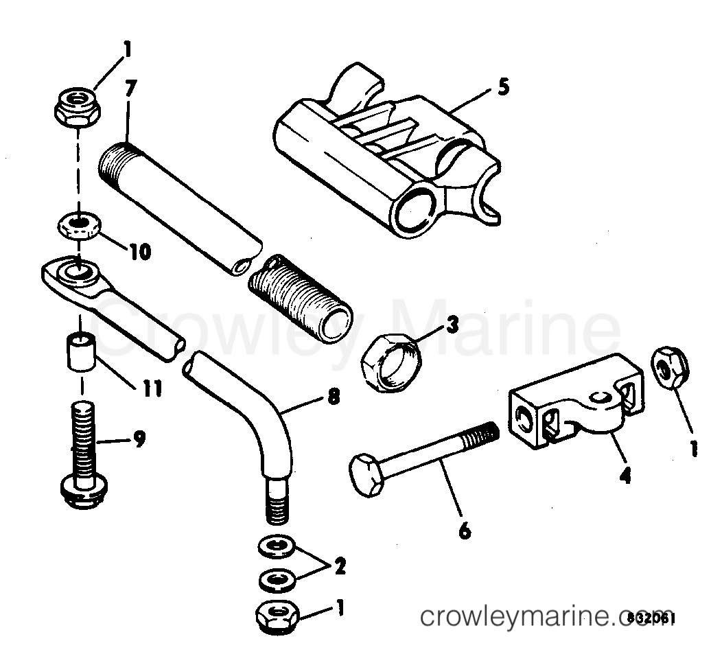 1983 Evinrude Outboards 235 - E235STLCTS - DUAL CABLE STEERING CONNECTOR KIT-PARALLEL ENTRY 2.6 MODELS section