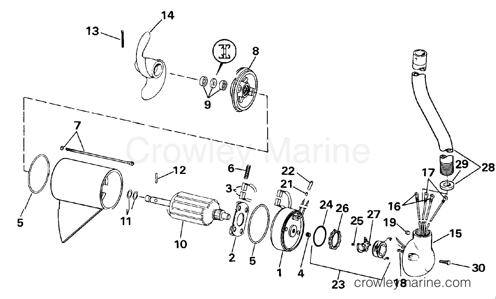 """1990 Electric Motors 24 Volt - BFX4TK - MOTOR AND ADAPTER GROUP/24 VOLT (""""K"""" MODEL SUFFIX)"""