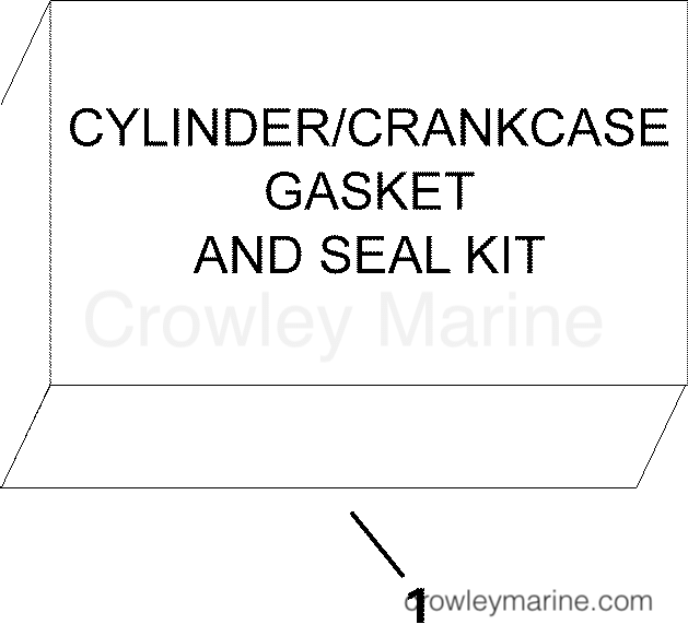 2010 Evinrude Outboards 40 - E40DPLISF GASKET KIT section