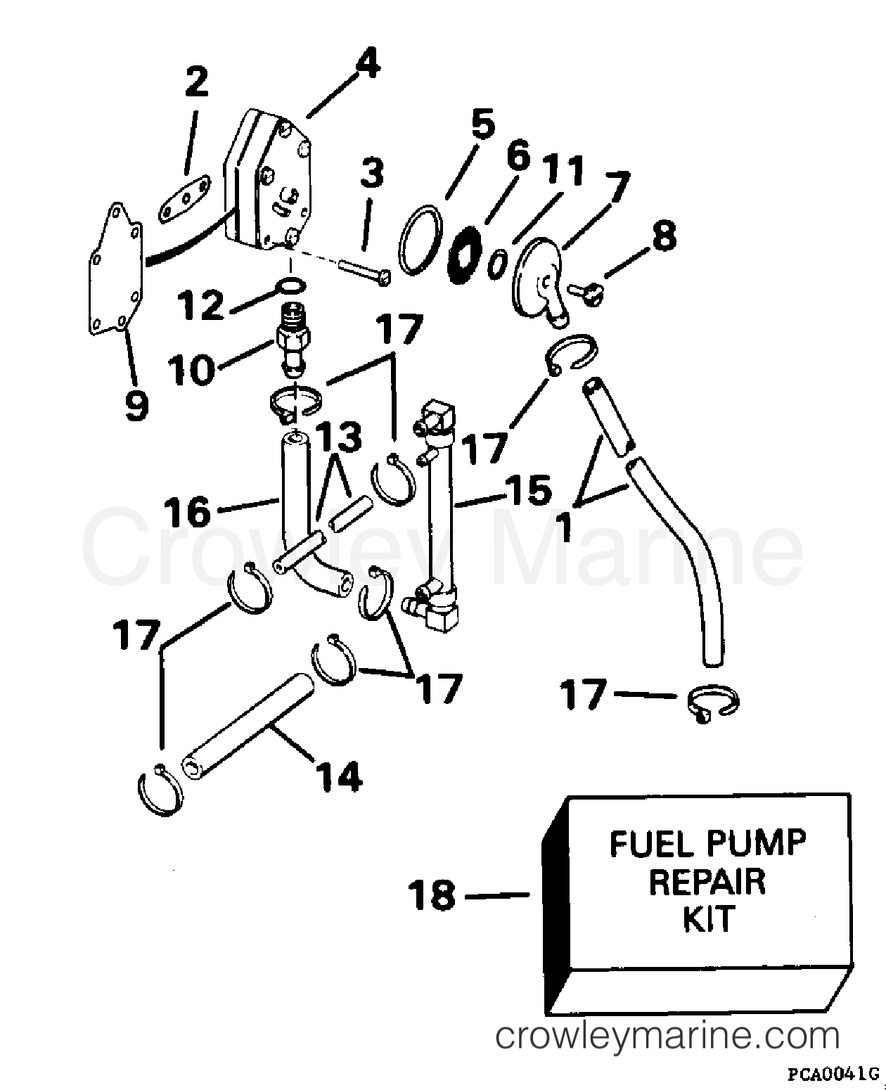 1995 Evinrude Outboards 112 - XE112TSLEOC - FUEL PUMP section