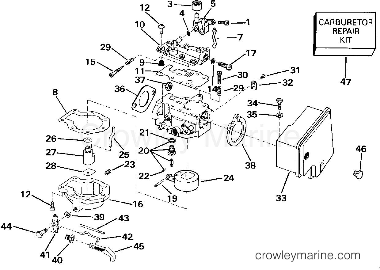 карбюраторы для лодочных моторов джонсон