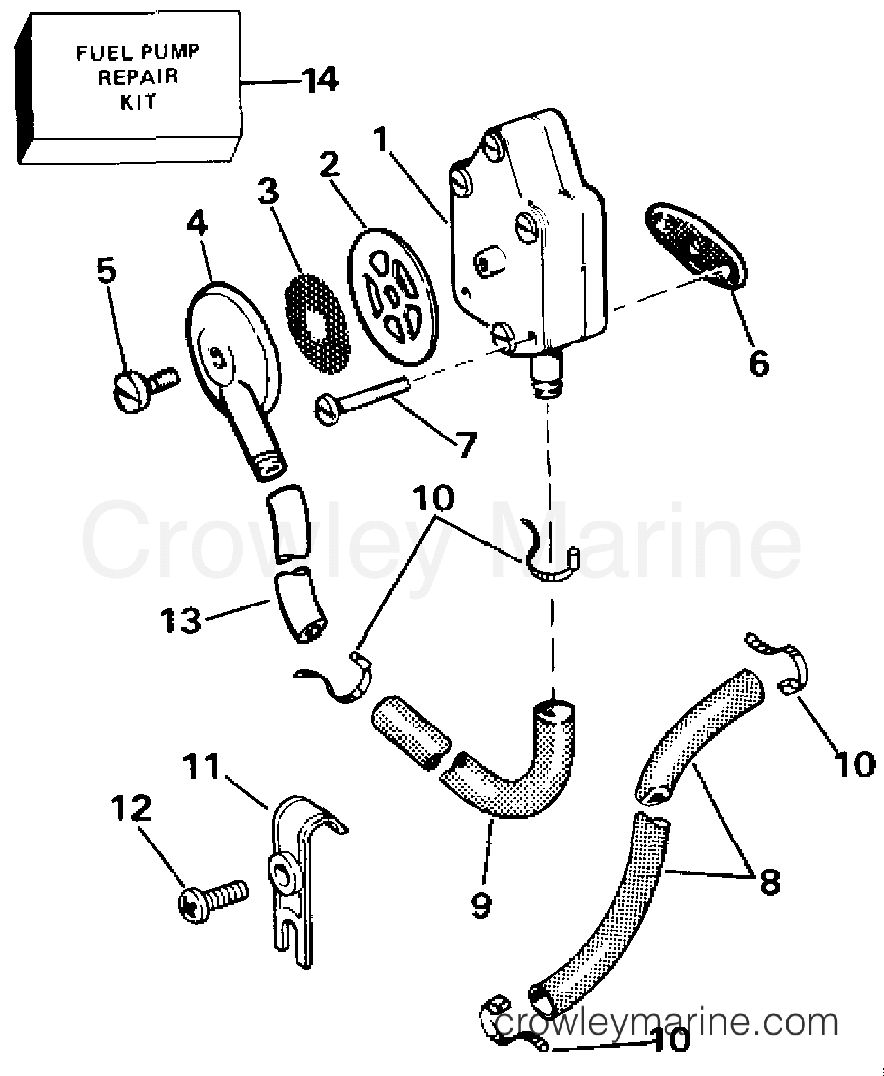 fuel pump and filter 1987 evinrude outboards 35 e35arlcud rh crowleymarine com evinrude 4 hp fuel pump diagram evinrude 6 hp fuel pump diagram