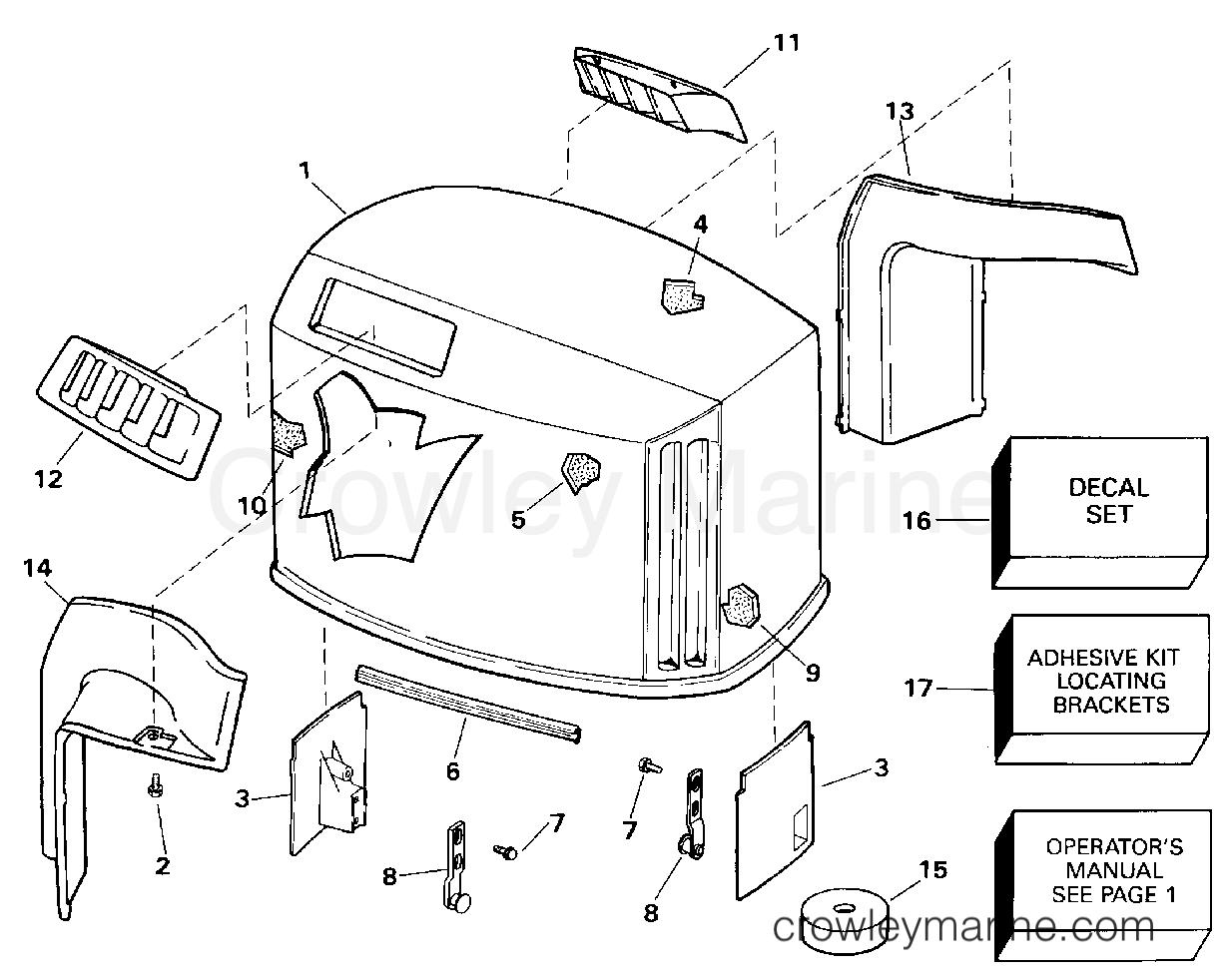 1994 Evinrude Outboards 150 - E150WTLERC ENGINE COVER - EVINRUDE section