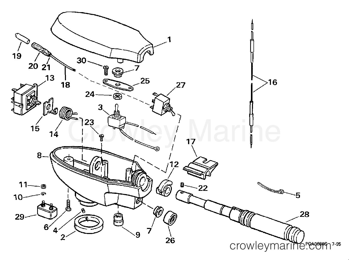 1997 Electric Motors 24 Volt - BFX4TPV - CONTROL HOUSING GROUP/HAND STEERING MODEL