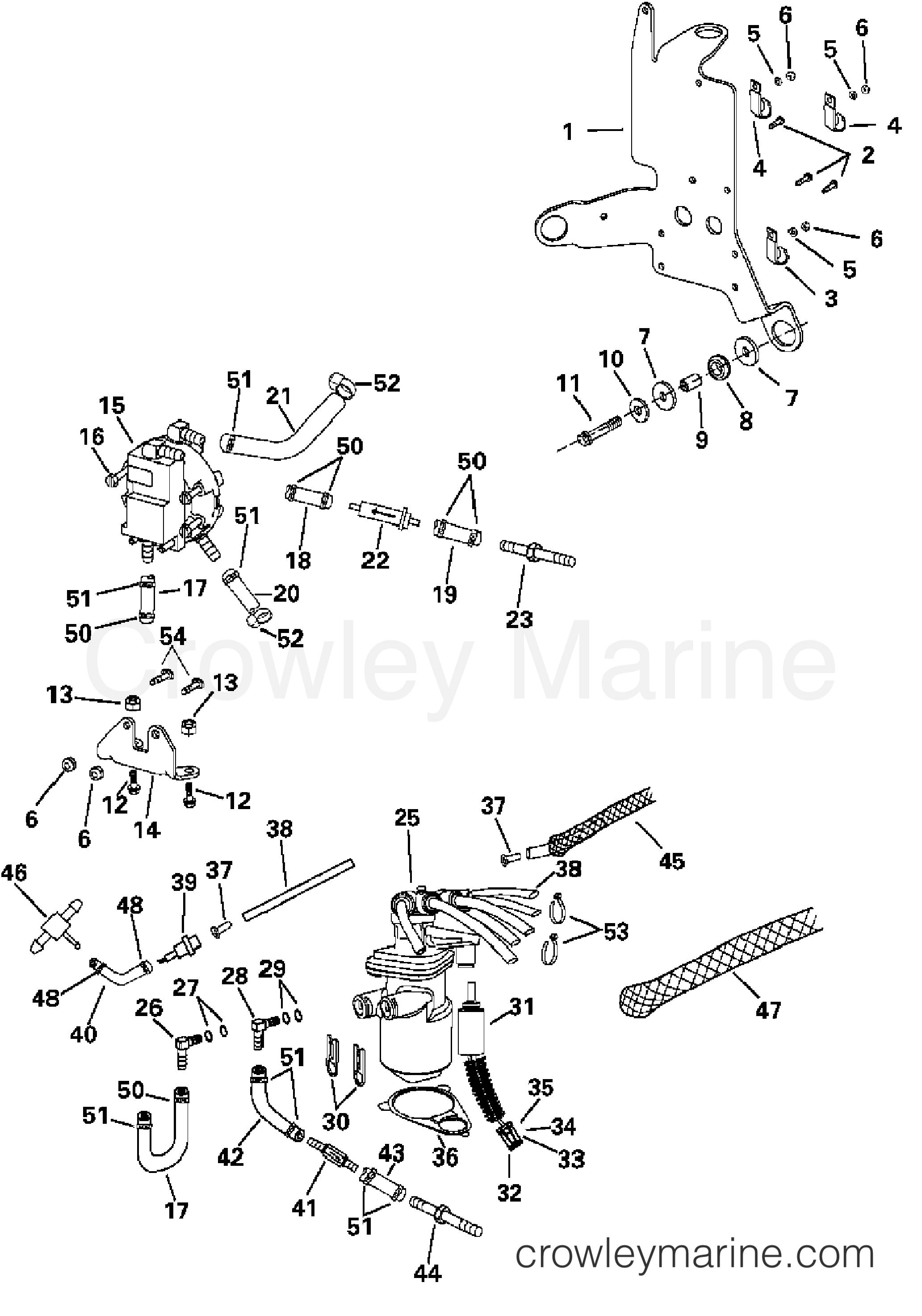 2004 Evinrude Outboards 200 - E200FCXSRB - OIL SYSTEM section
