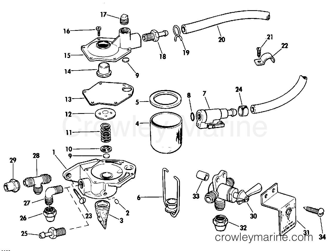 1979 Rigging Parts Accessories - Fuel System - PRIMER PUMP KIT