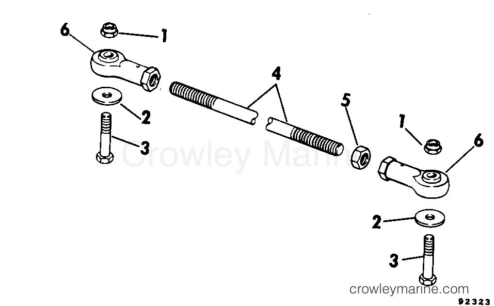 1979 Rigging Parts Accessories - Steering - TIE BAR KITS 55 THRU 140 - DUAL ENGINE