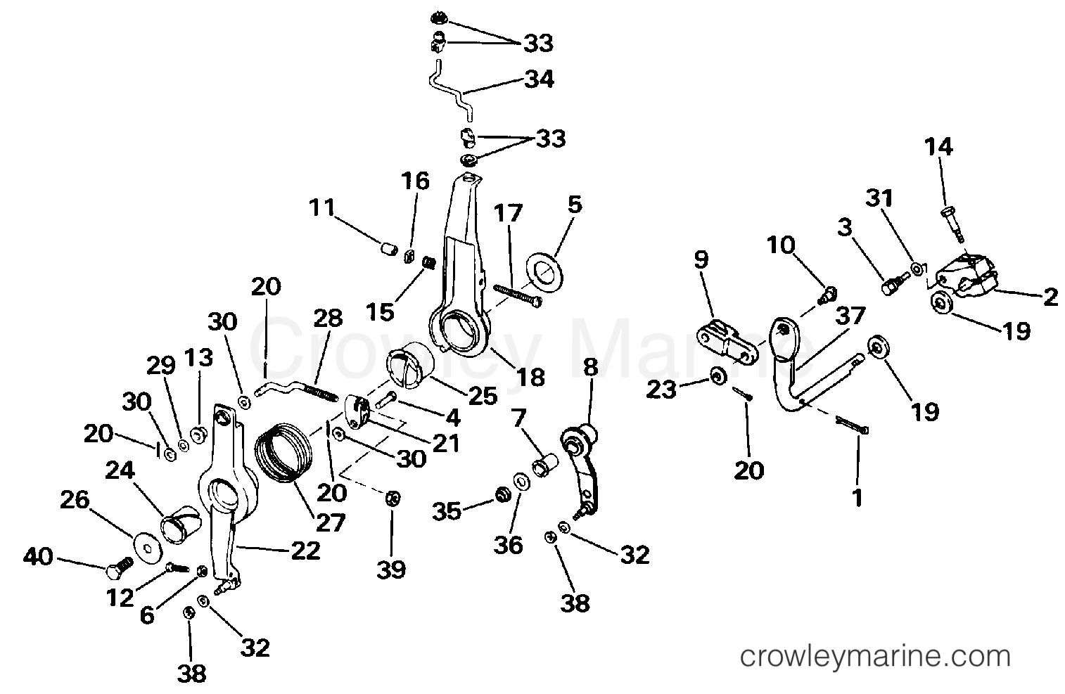 Omc Outboard Linkage Diagram Schematics Wiring Diagrams Brp Evinrude Ignition Switch Throttle Shift 1986 Outboards 150