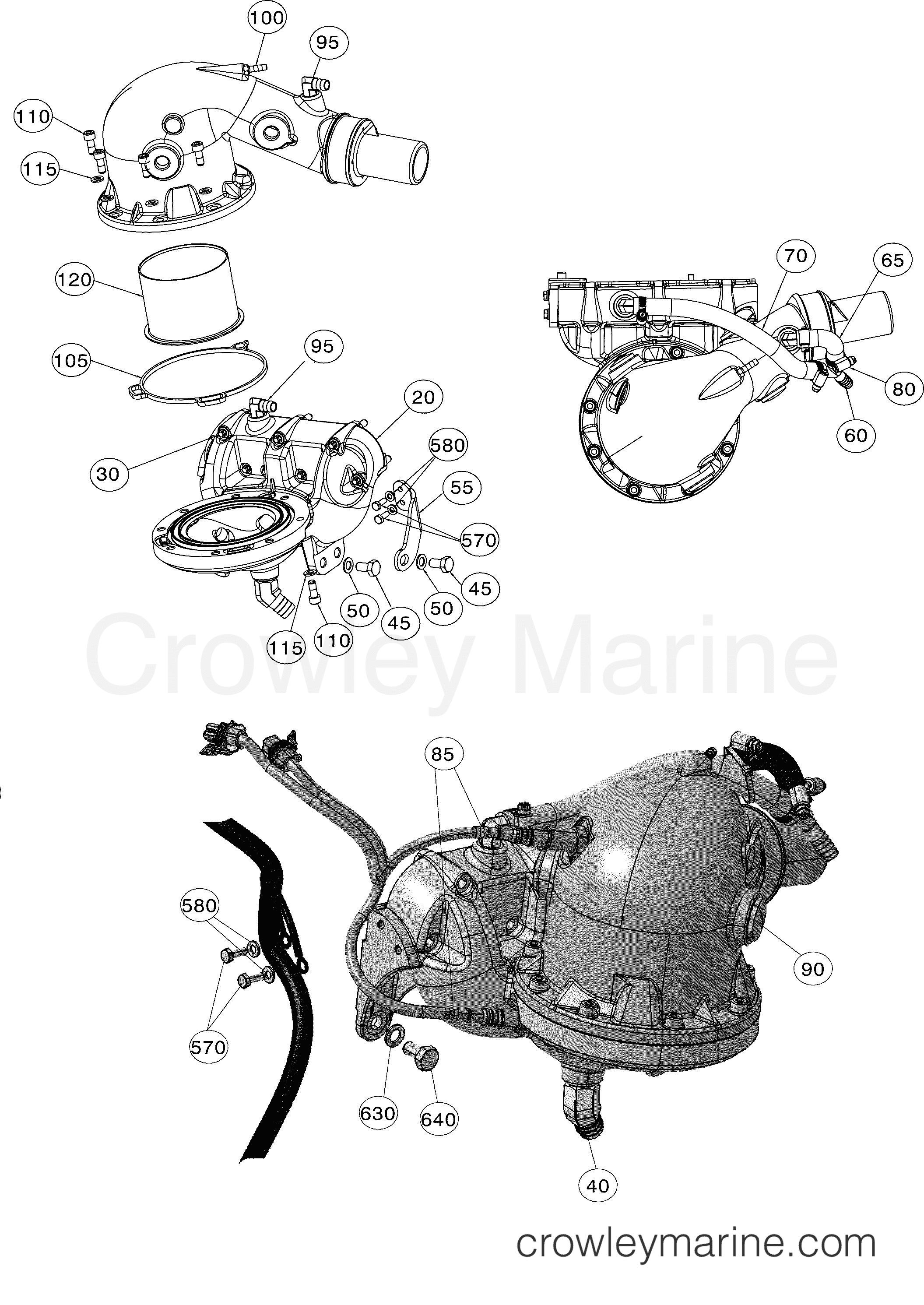 Catalyst Ab Rotax Powertrains 90 440030aba Crowley Marine Engine Diagram Section