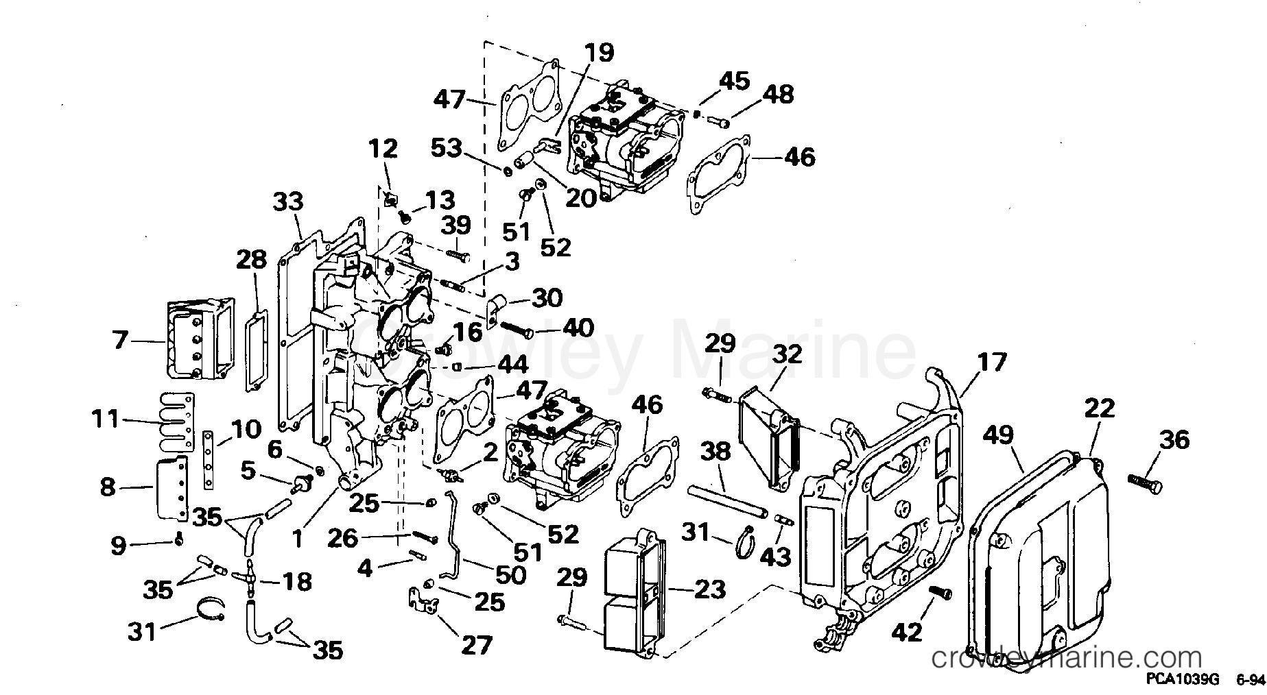 [SCHEMATICS_49CH]  INTAKE MANIFOLD - 1995 OMC TurboJet 115 115JEEOB | Crowley Marine | Wiring Diagram Omc 115 Turbojet |  | Crowley Marine