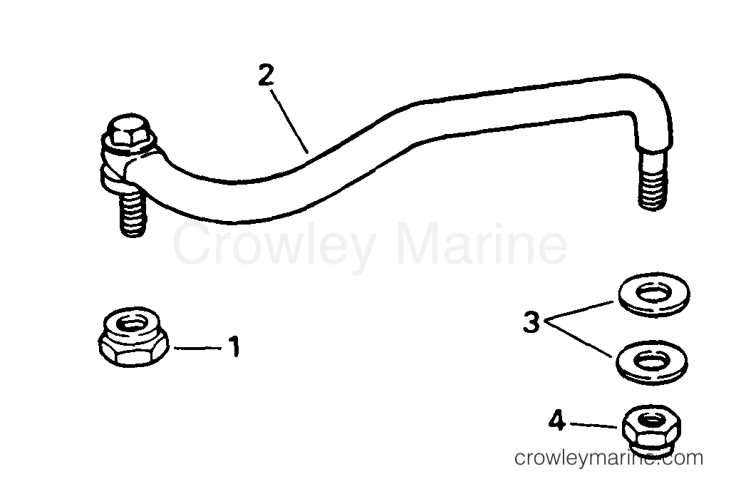 1996 Evinrude Outboards 9.9 - BE10EEDD STEERING LINK KIT section