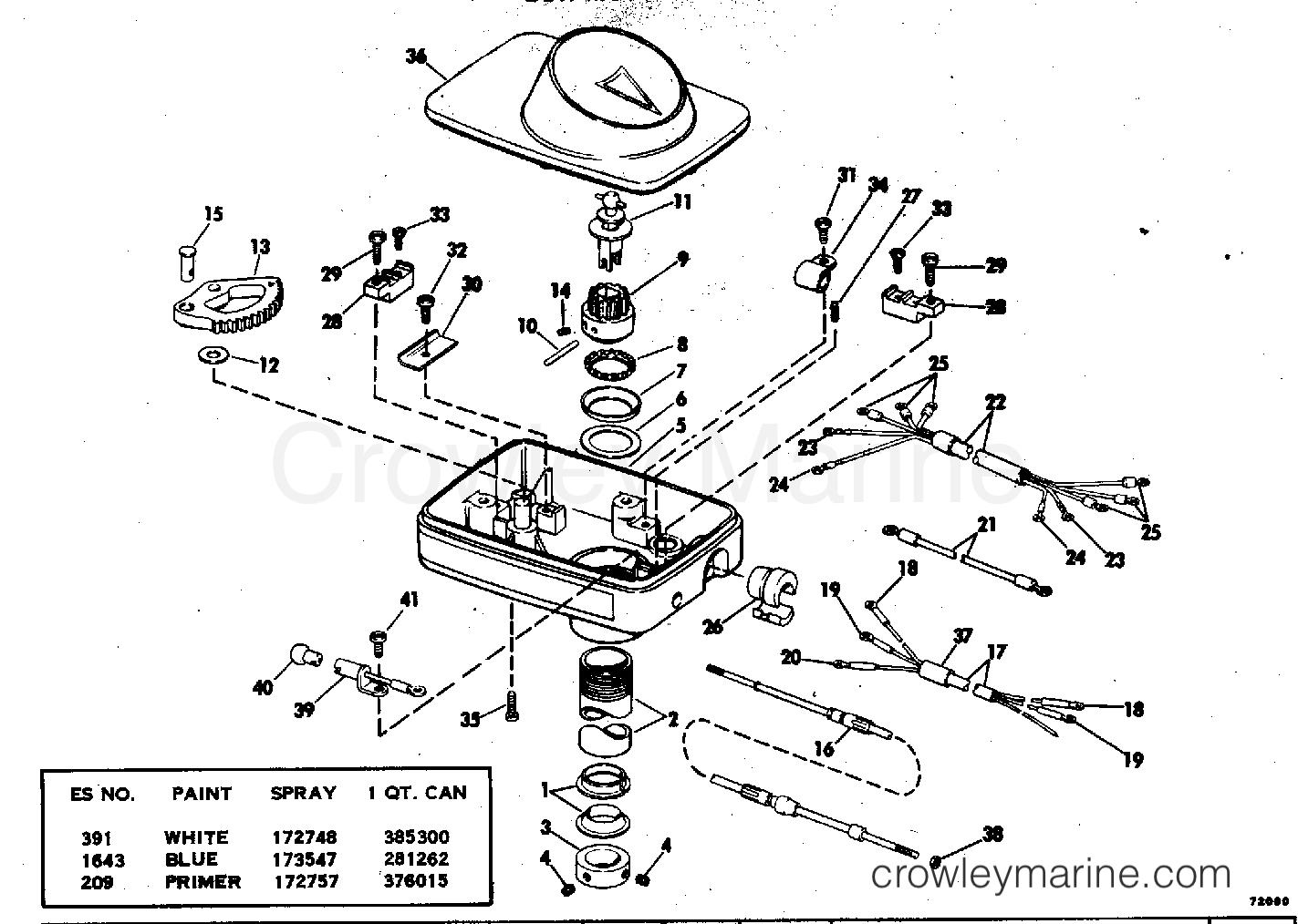 1978 Electric Motors 12 Volt - EB52R - STEERING HOUSING GROUP