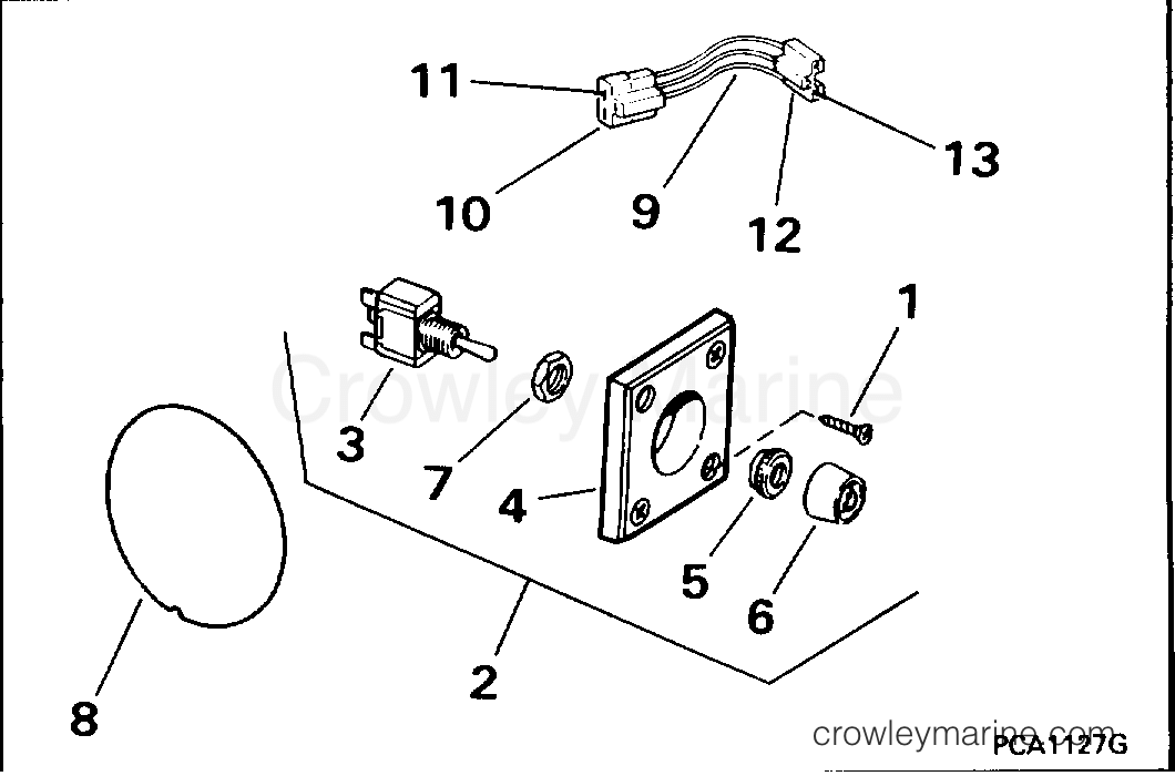 1995 Rigging Parts Accessories - Power Trim & Tilt - TRIM/TILT SWITCH CONVERSION KIT
