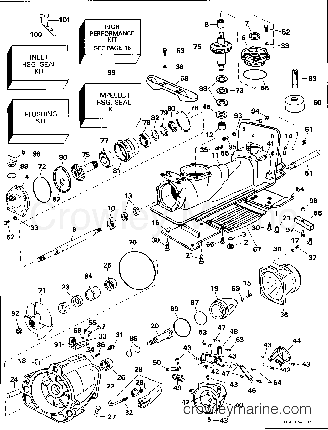 1996 OMC TurboJet 115 - 115TJEDB - JET PUMP section