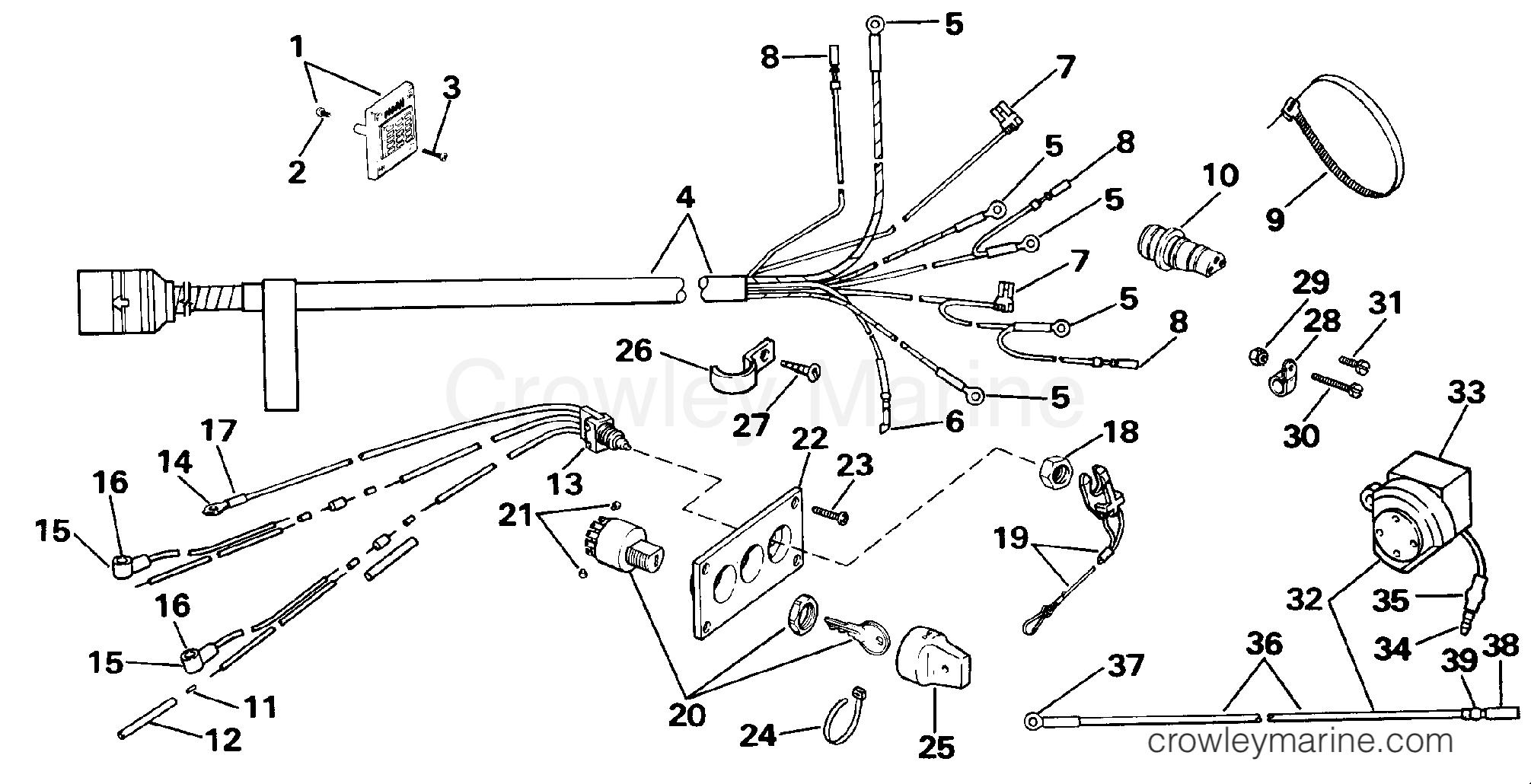 wiring kit - dual engine 140cx models