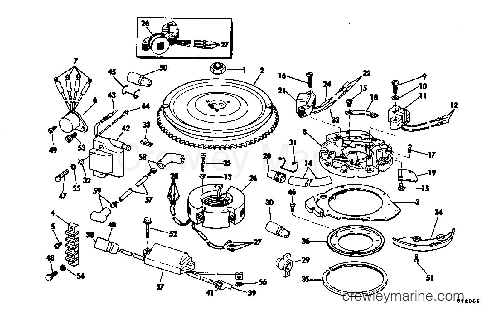 1981 Evinrude Outboards 25 - E25ECIB MAGNETO section