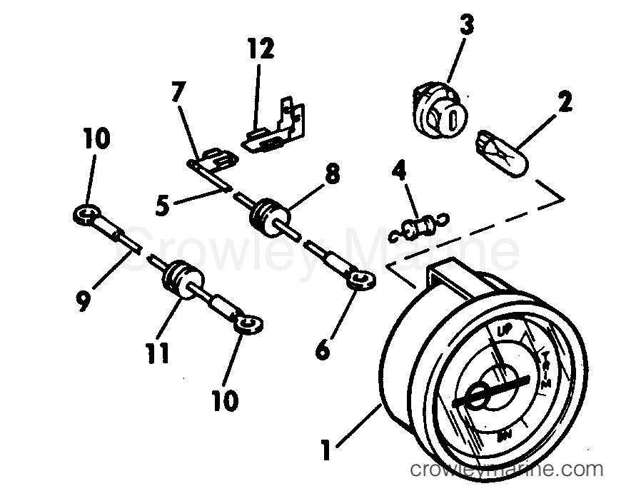 Trim Position Indicator Gauge Kit 55 Thru 140