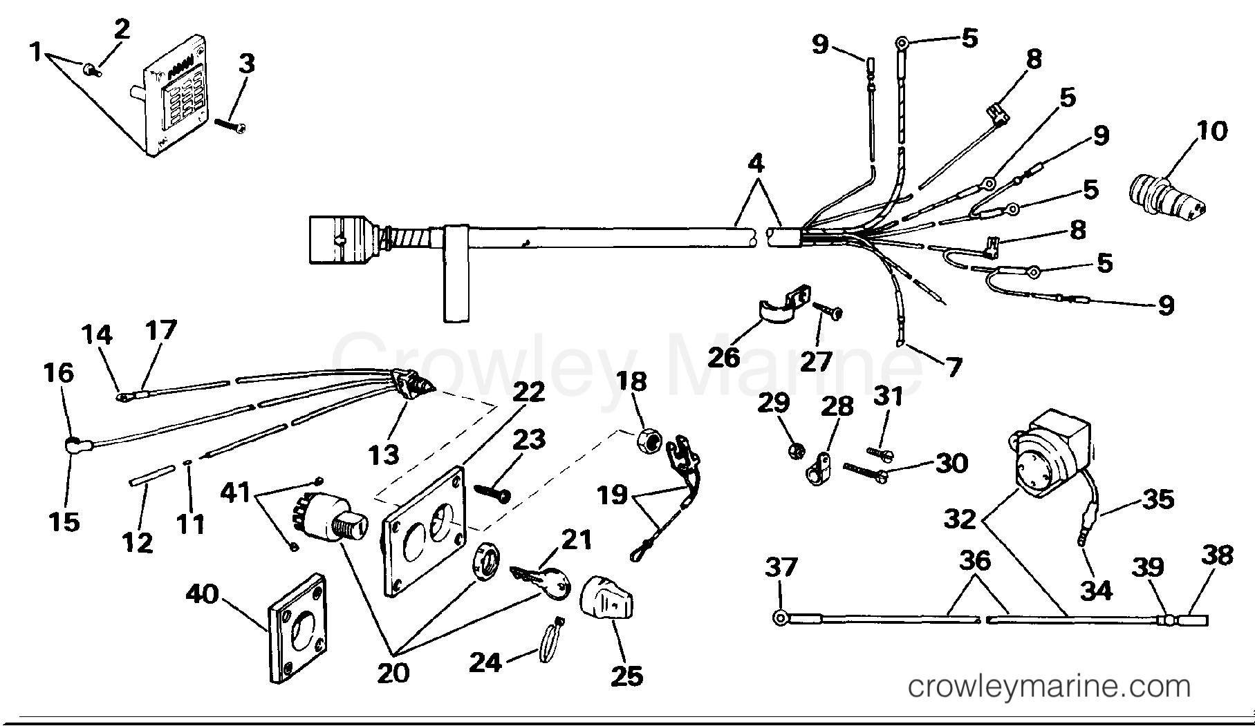 Wiring Kit - Remote Electric Start  10 Thru V8