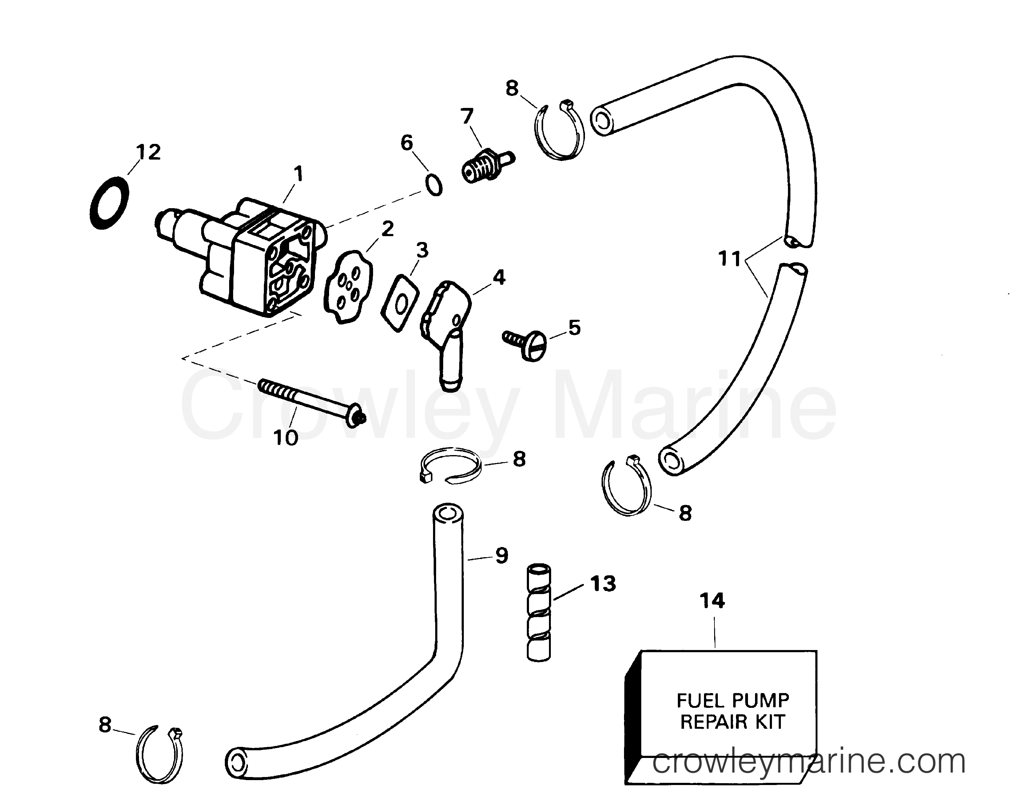 2001 Evinrude Outboards 10 - E10EL4SID FUEL PUMP section