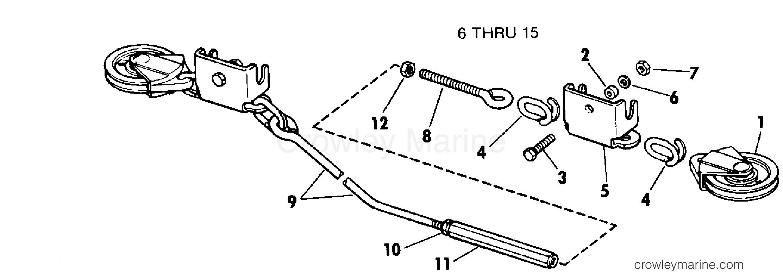1979 Rigging Parts Accessories - Steering - STEERING CONNECTOR KITS - ROPE 6 THRU 15 TWIN MOTOR