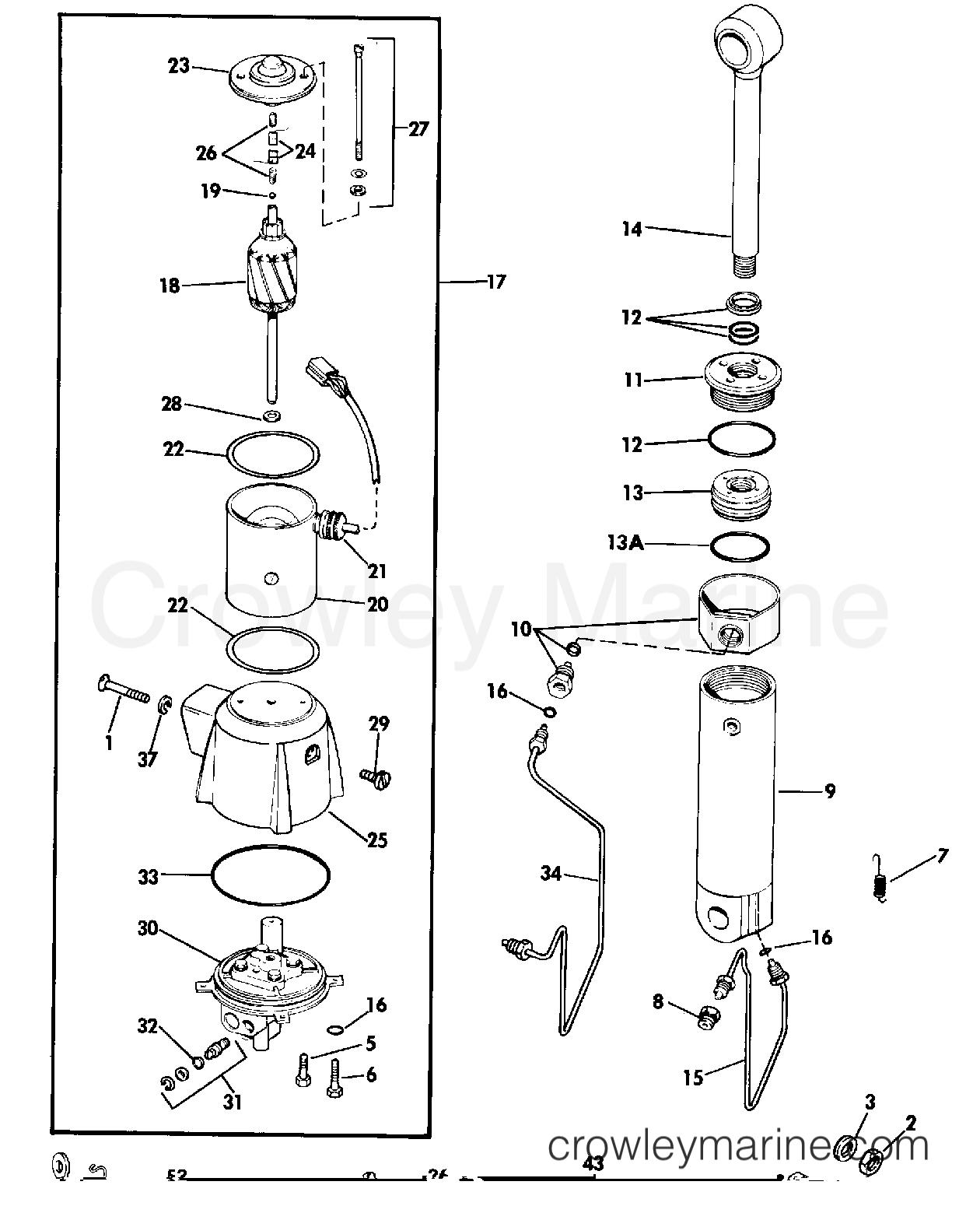 1984 Rigging Parts Accessories - Power Trim & Tilt - POWER TILT KIT ASSEMBLY 65 & 140