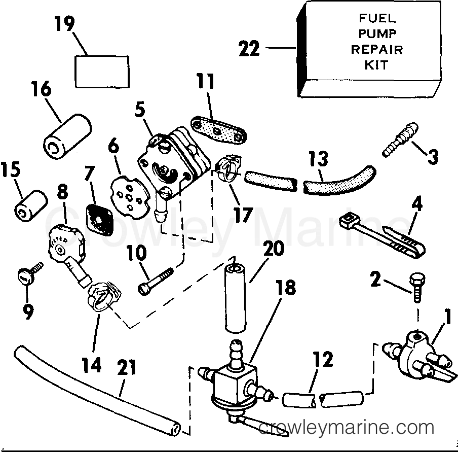 1985 Rigging Parts Accessories - Fuel System - ADAPTER KIT, REMOTE FUEL TANK 4RD & 4.5 MODELS