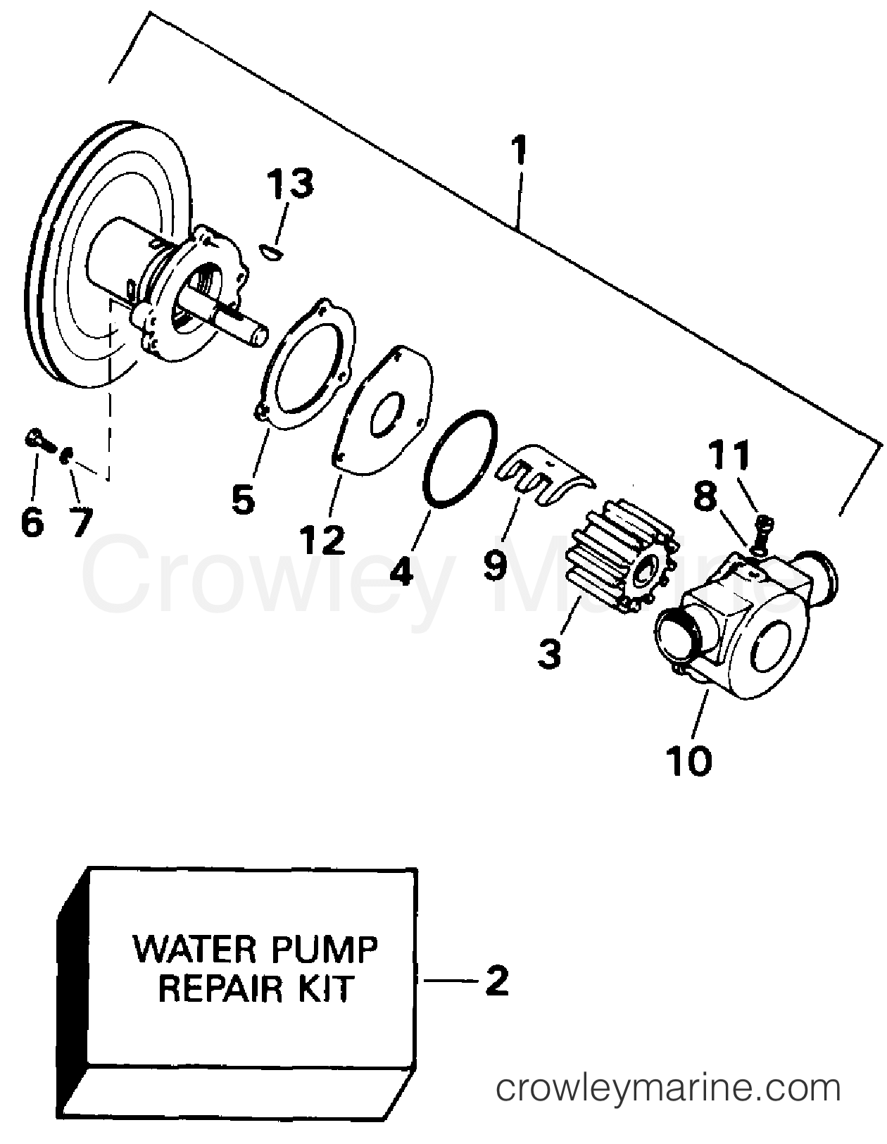 Omc Water Pump Diagram Wiring Harness Adapter Stern Drive Ccpmda Crowley Marine 1260x1625