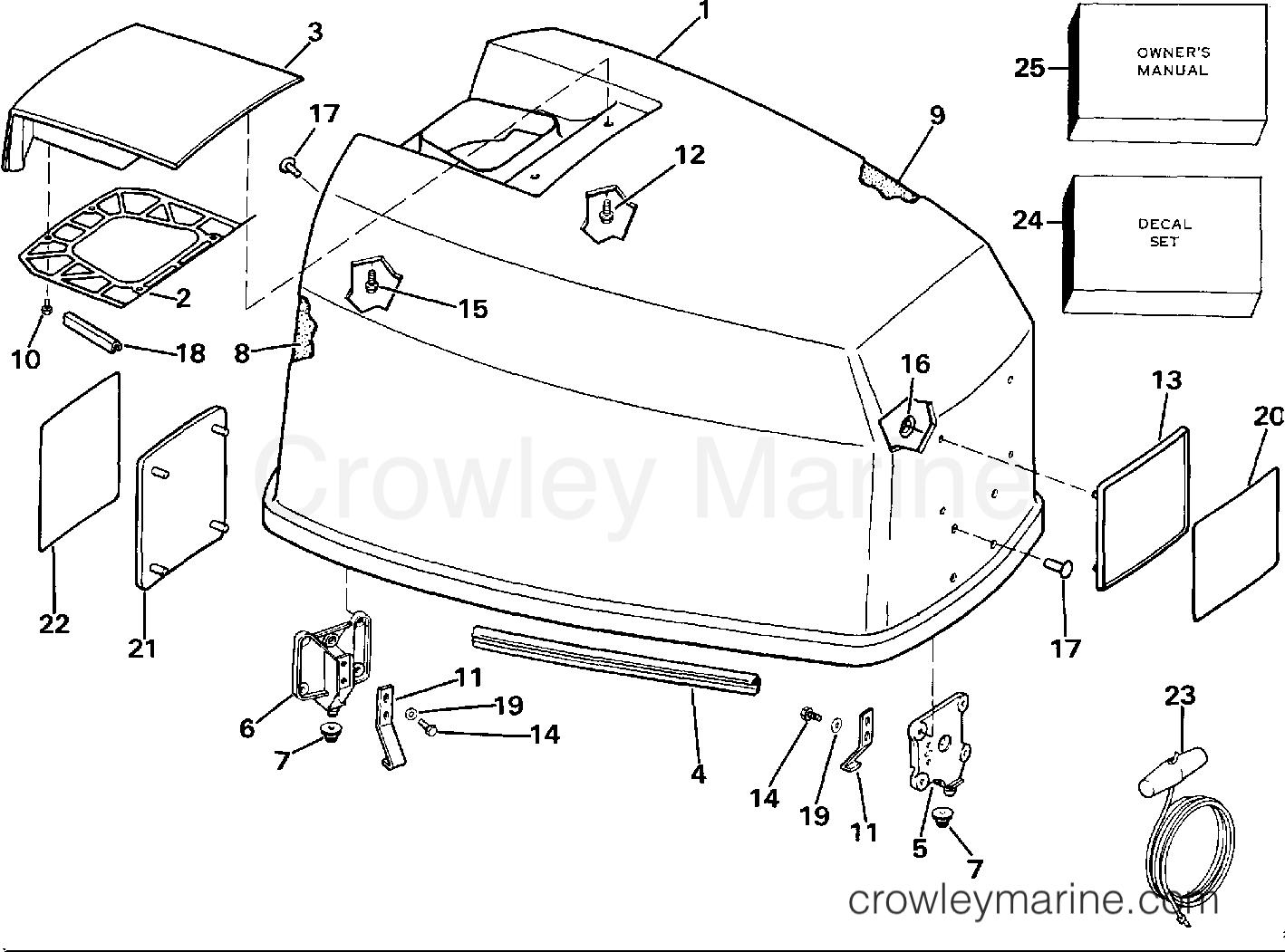 Engine Cover - Johnson